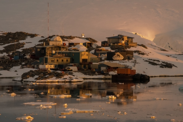 Our first view of the US Antarctic Program's Palmer Station on Anvers Island, Antarctica
