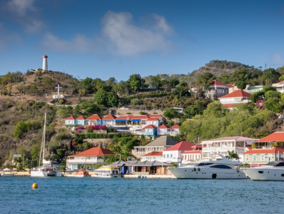 Sailing further along the coast of Saint Barthélemy (St. Barth's), Caribbean Sea