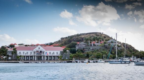 Sailing into Gustavia, Saint Barthélemy (St. Barth's), Caribbean Sea