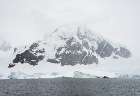 Sailing the Gerlache Strait on the way to Cuverville Island and the Arctowski Peninsula, Antarctica