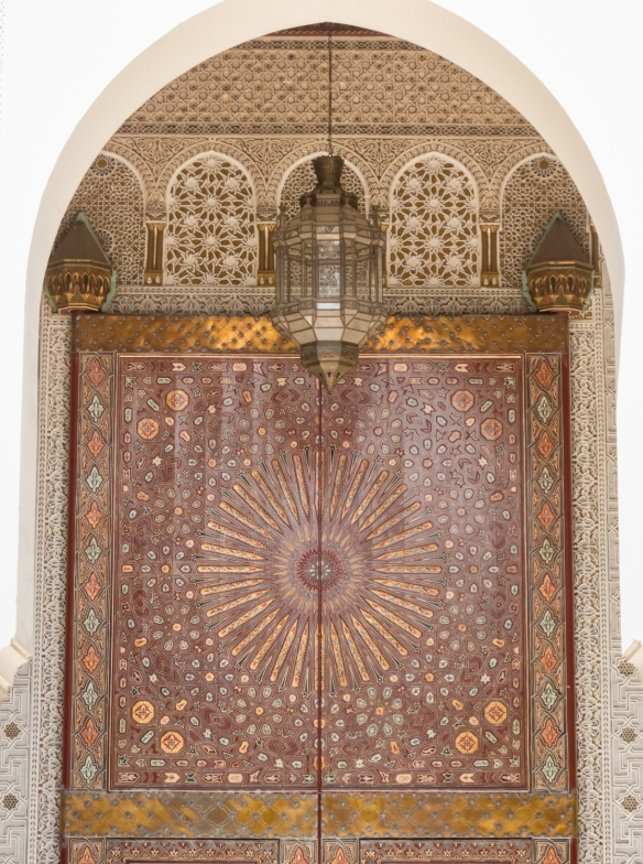 Side entrance to Palais Royal (Royal Palace), Casablanca, Morocco