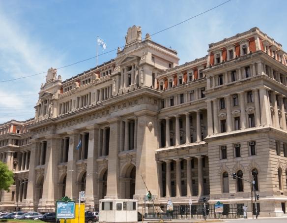 The exterior of Teatro Colón (Columbus Theatre, the main opera house), Buenos Aires, Argentina