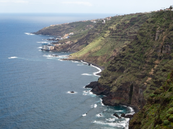 The northwestern Atlantic Ocean coast of Tenerife viewed from El Sauzal, Tenerife, Canary Islands