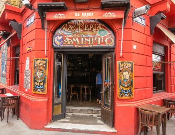 We stopped for refreshments at La Peria de Caminito in La Boca, Buenos Aires, Argentina