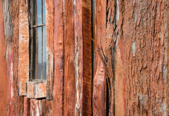 Wooden church siding, Cabo de Hornos (Cape Horn), Chile