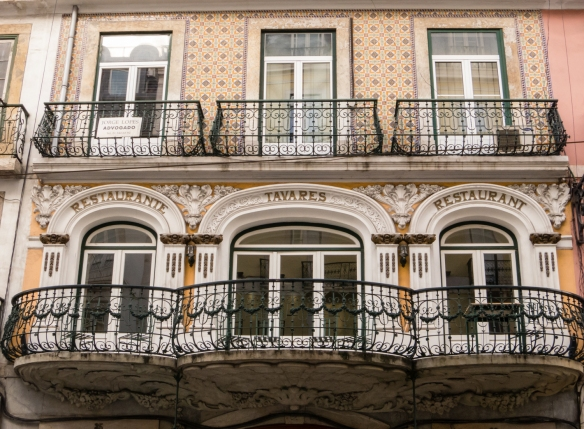 Restaurante Tavares (the Tavares restaurant), in Lisbon, Portugal, continuously open since 1784 in the same location (though not the same building), claims to be the second oldest in the Iberian Peninsula, Chiado District, Lisbon, Portugal