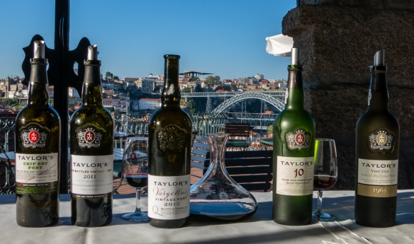 After our tour of the lodge's aging cellars, we had an extensive tasting of Taylor's different types of Port, starting with a White Port and ending with a rare, 50-year-old 1965 Tawny Port;  Porto (Oporto), Portugal