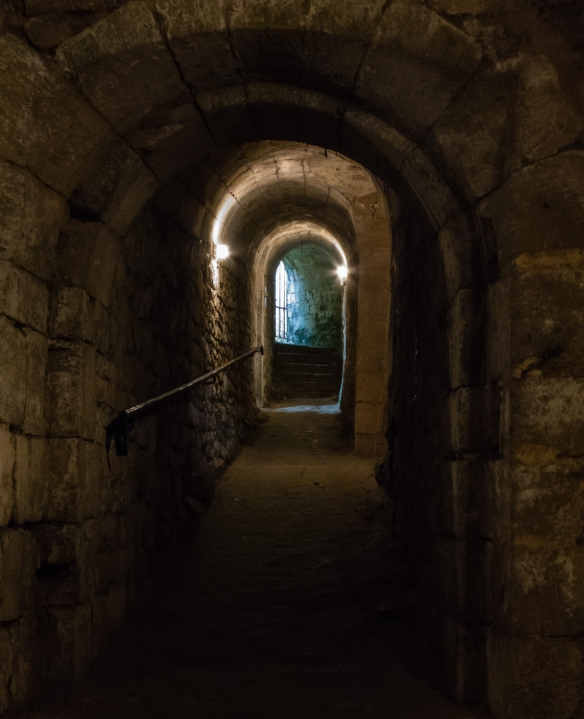 An underground passage for soldiers beneath one of the bastions at Blaye Citadel, Blaye, Bordeaux region, France