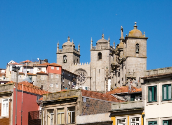 Catedral Sé do Porto (Oporto Cathedral) is generally recognized as the site of Prince Henry the Navigator's baptism, Porto (Oporto), Portugal