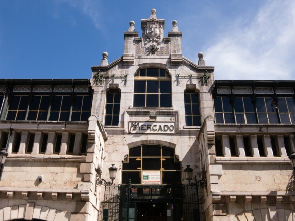 Facade and main entrance to Mercado de la Esperanza (the central market), Santander, Spain