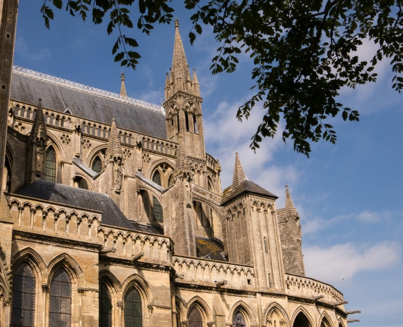 Flying buttresses of the Bayeux Cathedral, Bayeux, Normandy region, France