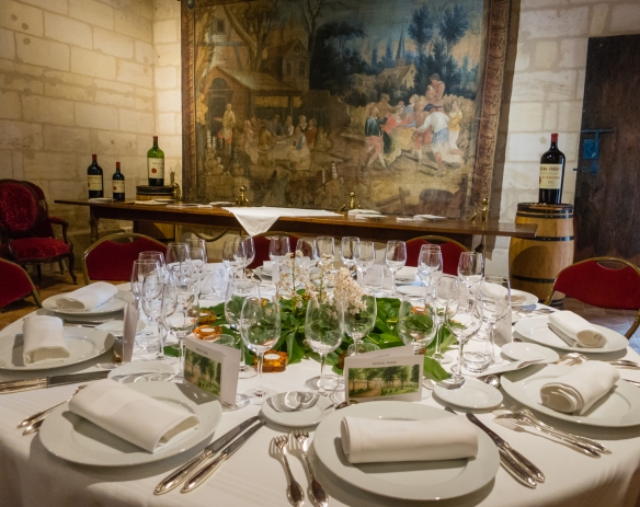 Following our tour of the vineyards and winery, we were hosted by Marie-France Manoncourt, proprietor, who joined us for our outstanding luncheon paired with the estate's wines, Château Figeac, Saint-Émilion, Bordeaux region, France