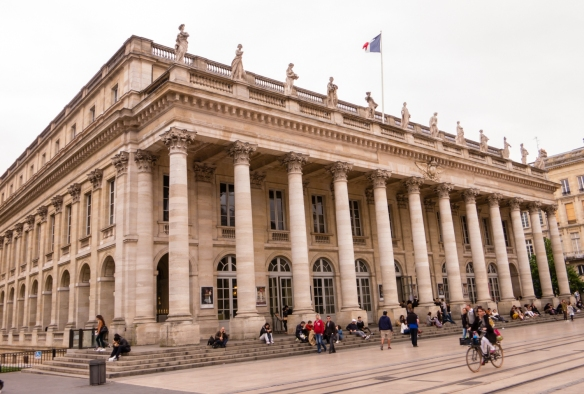 Grand Théâtre de Bordeaux is the home of the Opéra National de Bordeaux, Bordeaux, France