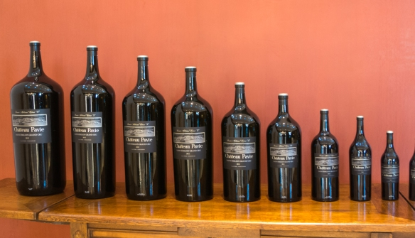 How many liters do you want of the 2012 Château Pavie?  Take you pick, starting with 375 mL on the right, 750 mL, a magnum, etc; Château Pavie, Saint-Émilion, Bordeaux region, France
