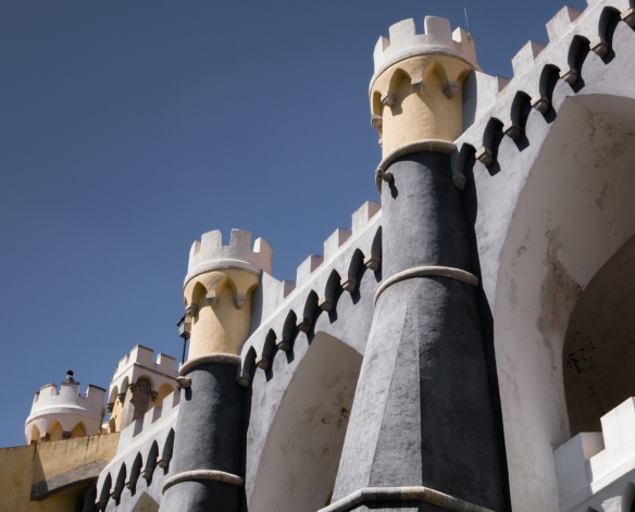King Ferdinand II's designs for The Palácio Nacional da Pena (Pena Palace) predate Disneyland and Star Wars by more than a century, Sintra (near Lisboa-Lisbon), Portugal