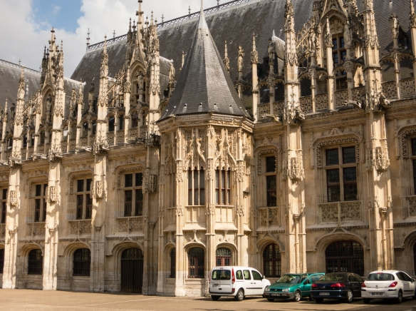 Le palais de justice de Rouen (the Palace of Justice, or the Rouen Courthouse), Rouen, Normandy region, France