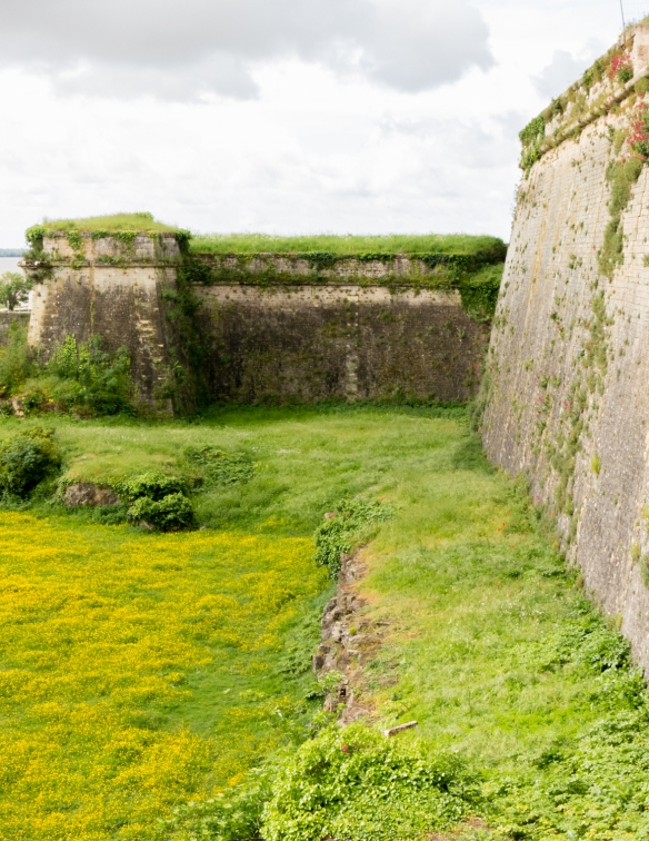 One of four bastions designed by Vauban to be protected from crossfire from the other bastions, Blaye Citadel, Blaye, Bordeaux region, France
