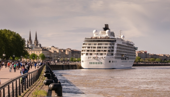 Our ship docked in the heart of the old city, along Quai Louis XVII across from the Bourse Maritime, Bordeaux, France