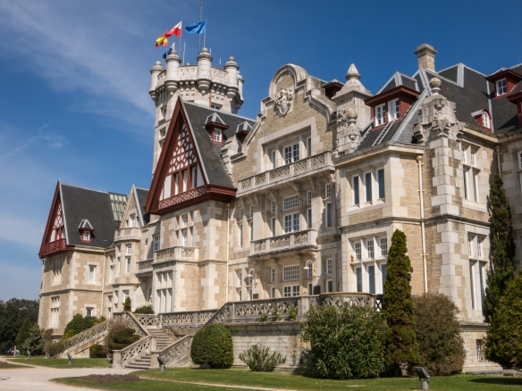 Palacio de la Magdelena (Palace of Magdelena) was first used as a summer residence for Spain's Royal family in 1913, Santander, Spain