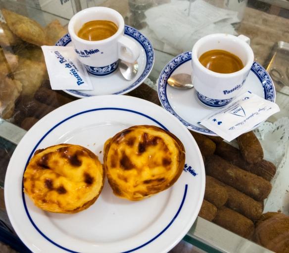 Pastéis de Belém at the bakery adjacent to Mosteiro dos Jerónimos (St. Jerone's Monastery), Lisboa (Lisbon), Portugal
