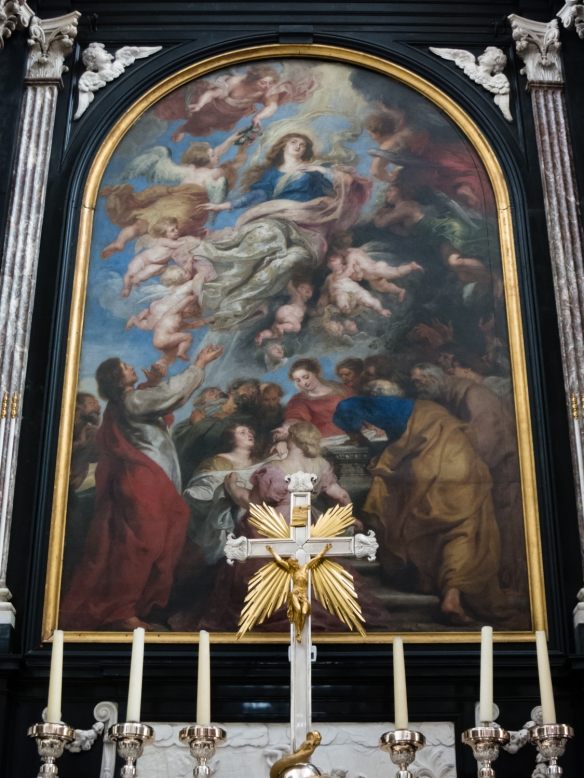 "Peter Paul Rubens' painting ""the Assumption of the Virgin Mary"", Cathedral of Our Lady, Antwerp, Belgium"