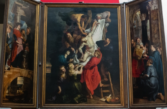 "Peter Paul Rubens' painting ""the Descent from the Cross"", Cathedral of Our Lady, Antwerp, Belgium"
