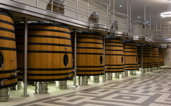 Since 1998, the grapes have been fermented in spanking new wooden vats, Château Pavie, Saint-Émilion, Bordeaux region, France