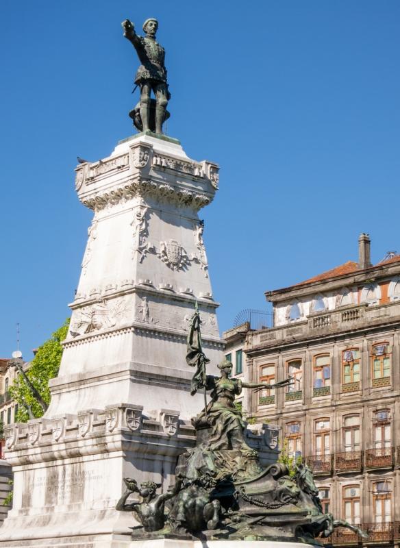 Statue of native son Infante Dom Henrique of Portugal, Duke of Viseu (Prince Henry the Navigator), Porto (Oporto), Portugal
