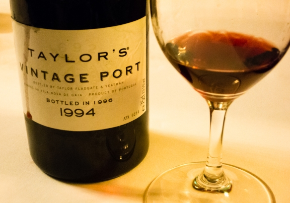 Successfully opened with the cork intact and no bits of cork in the bottle, the Taylor's 1994 Vintage Port was delicious and clearly still very young;  Vila Nova de Gaia, Portugal