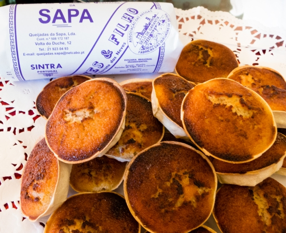 The best, delicious Sintra-style custard tarts (pastel de nata) in town, according to our guide who took us to his favorite bakery in Sintra (near Lisboa-Lisbon), Portugal
