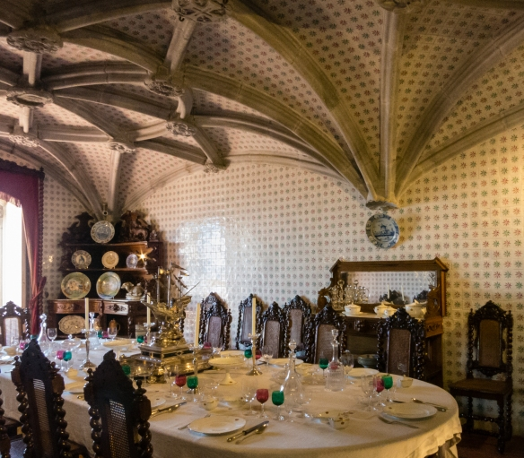 The former Refectory of the Hieronymite monks was converted by King Ferdinand II into the private Dining Room of the Royal Family at Palácio Nacional da Pena (Pena Palace), Sintra (near Lisboa-Lisbon), Portugal