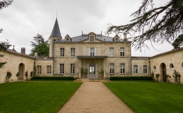 The historic Château Cheval Blanc (White Horse Castle), Saint-Émilion, Bordeaux region, France