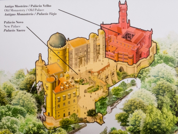The historic monastery of the Hieronymite monks of Our Lady of Pena makes up the Palácio Velho (Old Palace), Sintra (near Lisboa-Lisbon), Portugal