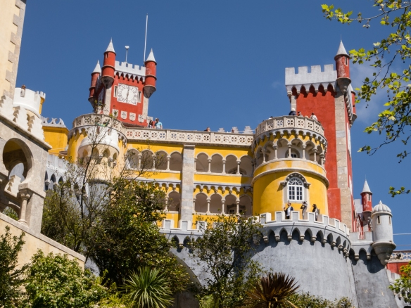 The Palácio Nacional da Pena (Pena Palace) is a UNESCO World Heritage Site and one of the Seven Wonders of Portugal, Sintra (near Lisboa-Lisbon), Portugal
