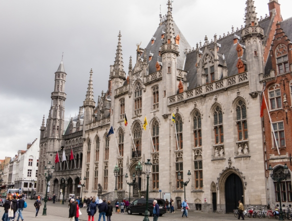 The Provincial Hof (Province Court), a Neogothical building (1787, replacing the former Waterhalle) on Grote Markt (the market place), is the former meeting place for the provincial government of West Flanders, Bruges, Belgium