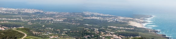 """The westernmost point of the European continent was considered in antiquity to be the place where """"the land ends and the sea begins"""", panorama from Sintra-Cascais Natural Park (near Lisboa-Lisbon), Portugal"""