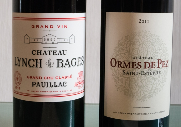 The wines we tasted after our tour at Château Lynch-Bages, Pauillac, Gironde, France