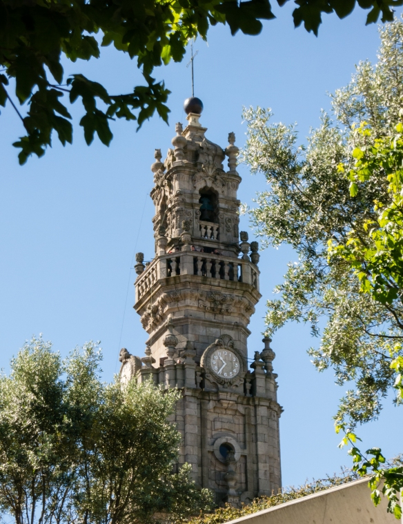 Torre dos Clerigos (Clerigos Church Bell Tower) -- the iconic landmark of the city, Porto (Oporto), Portugal