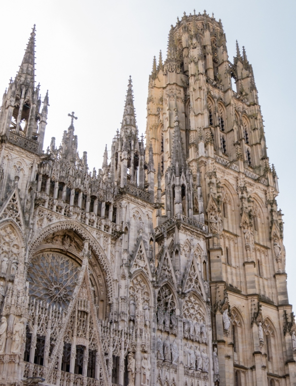 Tour de Beurre (the butter tower) was paid for by donations in the 15th century by parishoners who ate butter during Lent, Rouen Cathedral, Rouen, Normandy region, France; it was the inspiration for the Chicago Tribune Tower