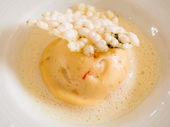 Trout mousse accompanied by Château Lynch-Bages, Grand Cru Classé – Pauillac 2003, Le Restaurant Gastronomique à Château Cordeillan-Bages, Pauillac, France