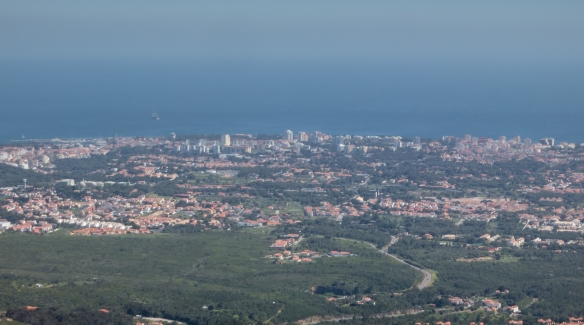 View of Cascais (on the right) and Estoril from Sintra-Cascais Natural Park (near Lisboa-Lisbon), Portugal