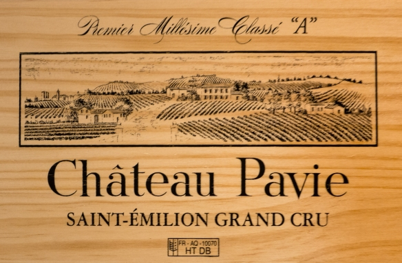 "With vineyards dating back to the Roman times, Château Pavie, whose name comes from the former orchards of peaches (""pavies""), has wines carrying the rank of Premier Grand Cru Classé (Class A), Saint-Émilion, Bordeaux region, France"