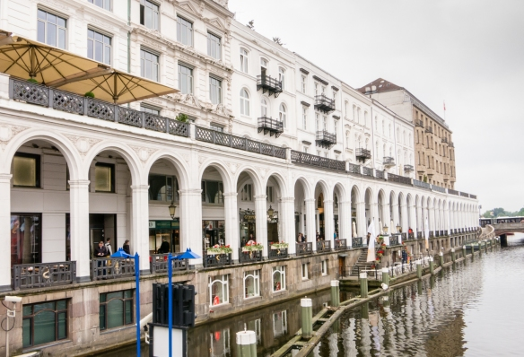 "No, its not Venice in Amsterdam, but Venice in Hamburg, often called the ""Venice of the North"" (move over, Amsterdam and Bruges…) – lots of cafes and restaurants under the arches, overlooking the canal, Hamburg, Germany"