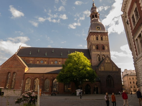 Rigas Doms (Riga Dome Cathedral) had its foundation stones laid in the 13th century in Vecriga (Old Town); it is a busy music venue and has one of Europe's largest pipe organs, Riga, Latvia