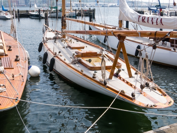 Some of Kiel's sailboats are from the golden age of fine wood craftsmanship in the construction of sailboats, Kiel, Germany