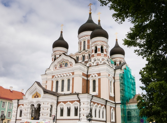 St. Aleksander Nevsky Cathedral, completed in 1900, sits atop Toompea Hill (upper Old Town); it was built to reflect Russian dominance over the territory at that time; Tallinn, Estonia