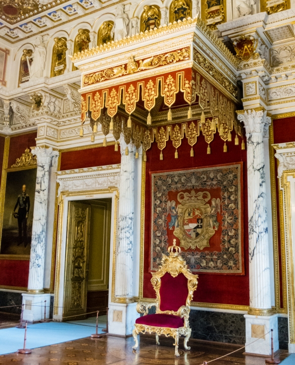 The Duke's throne room where he received state guests, Scholss Schwerin (Schwerin Castle), Schwerin, Germany