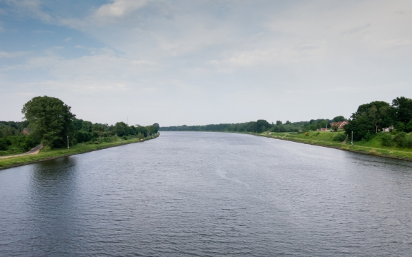 The freshwater Kiel Canal saves considerable time going from the North Sea to the Baltic Sea (not sailing through the rough waters off the Jutland Peninsula) across northern Germany (from near Hamburg to Kiel)