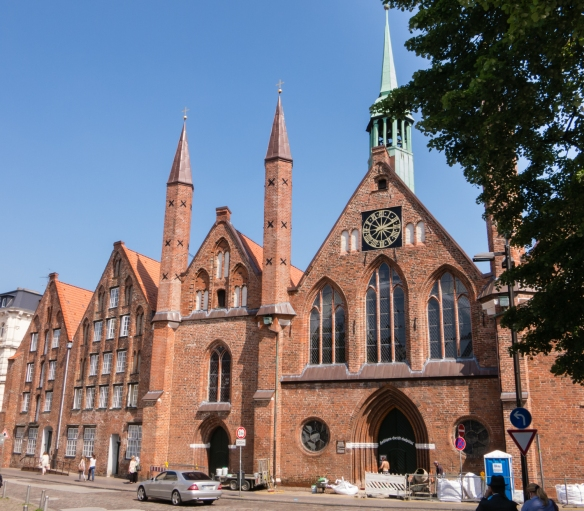 The Heiligen-Geist-Hospital (Hospital of the Holy Spirit), one of the oldest social institutions in Lübeck, Germany, built from 1276 - 1286, is one of the oldest hospitals in Europe, Altstadt (old town)