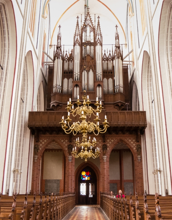 "The pipe organ of Schweriner Dom (""Brick Gothic Cathedral""), Schwerin, Germany"